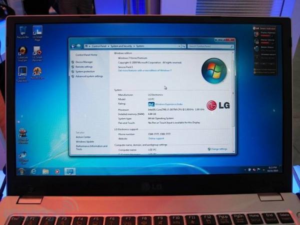 Ноутбук LG P220