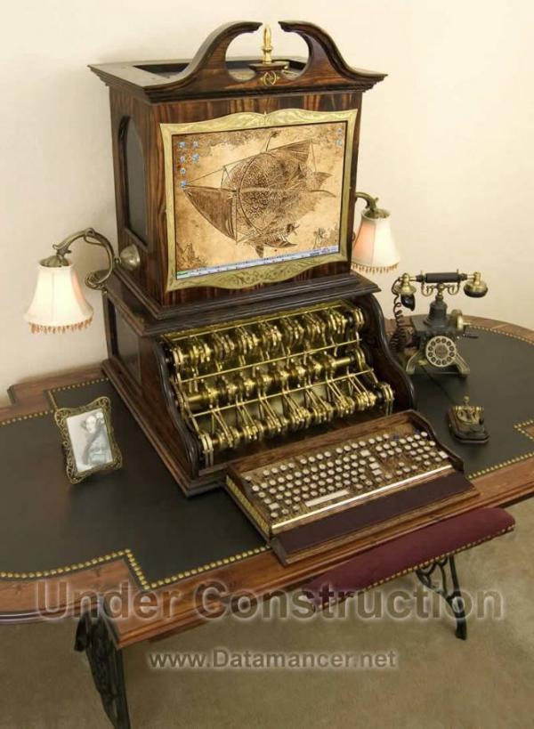 Компьютер в стиле 18-го века