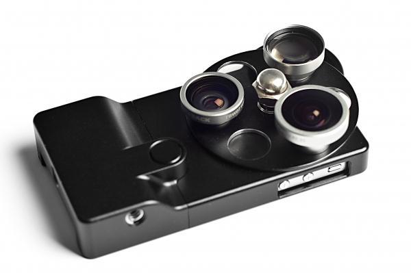 Защитный кейс со сменной оптикой для iPhone 4 / 4S