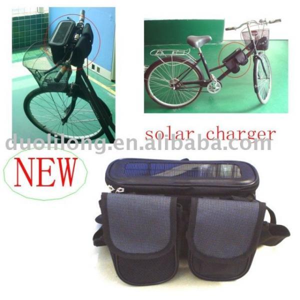 Велосипедная сумка с зарядным устройством на солнечных батареях