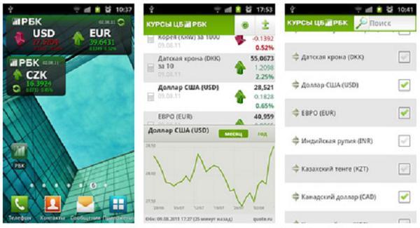 Курсы ЦБ РФ для Android