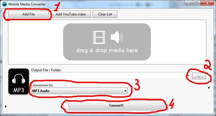 как конвертировать видео в Mobile Media Converter