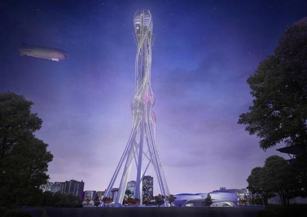 Проект необычного небоскреба в Тайване фото