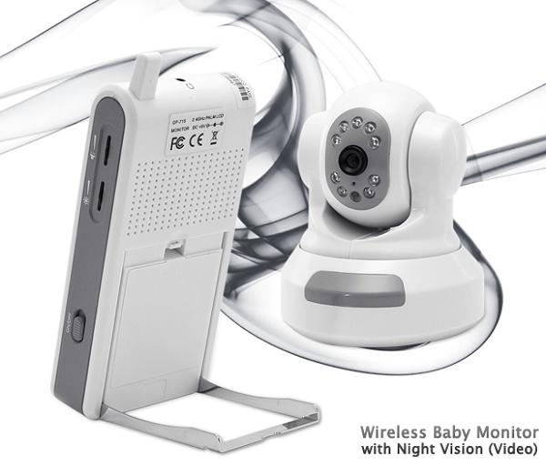 Wireless Baby Monitor w Night Vision фото