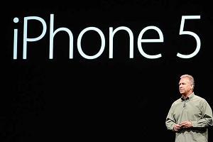 На фото изображена презентация iPhone 5-го опколения