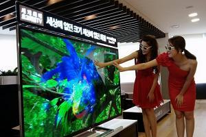 3D телевизор с размером 84-дюйма и разрешением 4K фото