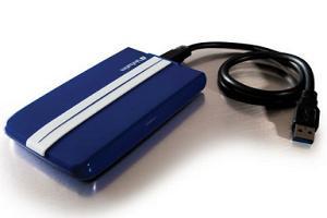На фото внешний жесткий диск Verbatim GT SuperSpeed USB 3.0